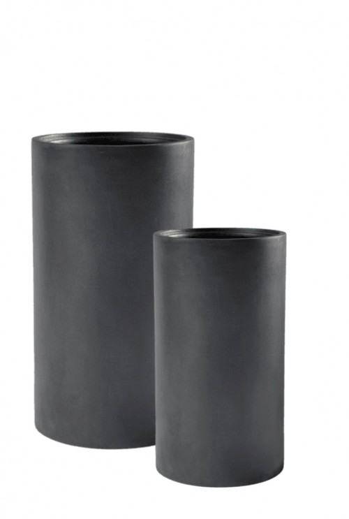 Basic Cylinder Dark Grey (met inzetbak)